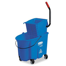 Rubbermaid® Commercial WaveBrake Side-Press Wringer/Bucket Combo - 8.75gal - Blue