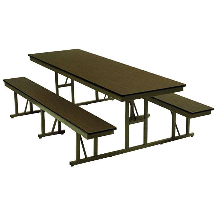 Charmant ... Our Customizable Standard Bench Lunchroom Table Without Back Support    30u0027u0027W X 72