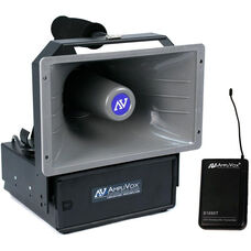 Wireless Powered Hailer Speaker Kit with Emergency Siren - Black - 11