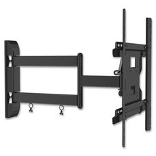 Lorell Medium Double Articulated Mount - 80lb Capacity - Black