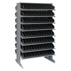 Sloped Shelving Double Sided Pick Rack Unit with 192 Bins - Black