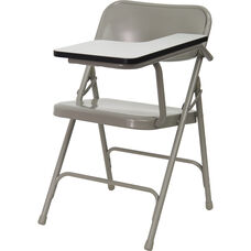 Premium Steel Folding Chair with Left Handed Tablet Arm