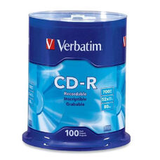 Verbatim 52X Speed Branded Cd-R - Pack Of 100