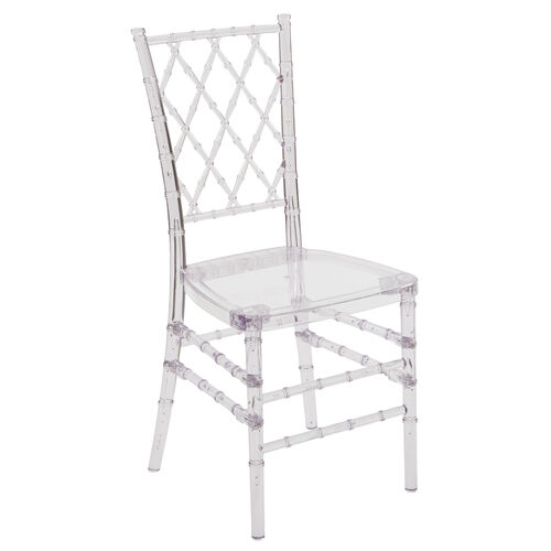 "Our Flash Elegance Crystal Ice Stacking Simplicity Chair with <span style=""color:#0000CD;"">Free </span> Cushion is on sale now."