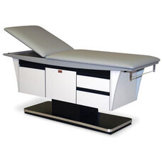Deluxe Treatment Table with Paper Dispenser and Cutter - Folkstone Gray
