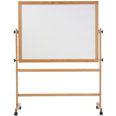 Pro-Rite® Reversible Markerboard and Natural Cork with Wood Trim - 48