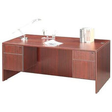 Cherry Double Pedestal Desk