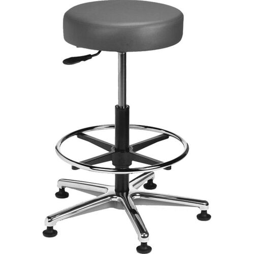 Our Industrial Round Vinyl Cast Aluminum Base Stool with Glides and Footring is on sale now.