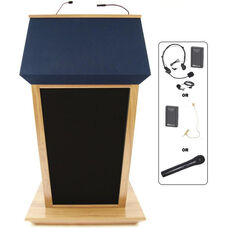 Patriot Plus Wireless 50 Watt Sound and Hand Held Mic Lectern - Maple Finish - 31
