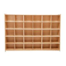 30 Cubbie Tray Baltic Birch Plywood Storage Unit with Tuff-Gloss UV Finish - 50.75
