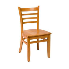 Burlington Natural Wood Ladder Back Chair - Wood Seat