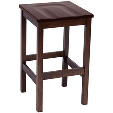 Eastwood Backless Bar Height Stool with Contoured Wood Seat - Mahogany