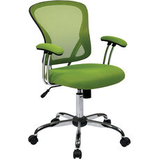 Ave Six Juliana Task Chair with Mesh Seat - Green
