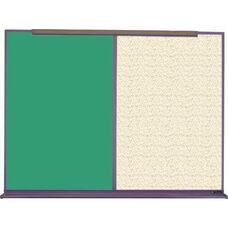 800 Series Aluminum Frame Combination Chalkboard and Tackboard - Fabricork - 96