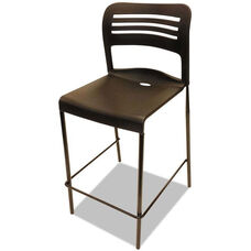 Alera Plus™ Counter Height Stacking Armless Stool - Set of Two - Black