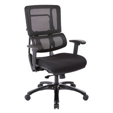 Pro-Line II Vertical Mesh Back Office Chair with Shiny Base - Black