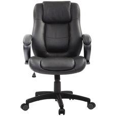 Pembroke 26.37'' W x 27.55'' D x 44.88'' H Adjustable Height Executive - Black Leather