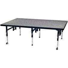 Adjustable Height Stage with Carpeted Top and Built - In Coupling System - 48
