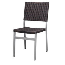 Fiji Dining Armless Side Chair with Powder Coated Aluminum Frame - Espresso