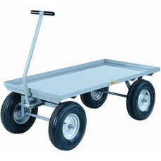 4-Wheeler Wagon Truck With Lipped Deck And 4-Ply Pneumatic Wheels