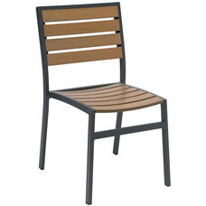 Eveleen Aluminum Outdoor Side Chair with Polymer Seat and Back - Mocha
