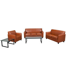 """HERCULES Diplomat Series Reception Set in Cognac with <span style=""""color:#0000CD;"""">Free </span> Tables"""