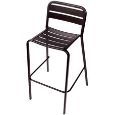 Vista Stackable Outdoor Aluminum Barstool - Black