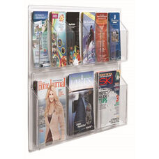 Clear-VU Combination Pamphlet and Magazine Display - 6 Pamphlets and 3 Magazines