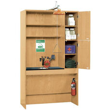 ADA Science Lab Safety Station with Washing Station and Fire Safety Equipment - 48