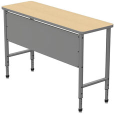 Apex Series Height Adjustable Stand Up Desk with PVC Edge - Sand Shoal Top with Gray Edge and Legs - 60