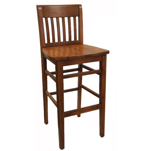 Vertical Ladder Back Barstool