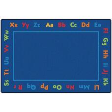 Kids Value Alphabet Value Rectangular Nylon Rug - 96