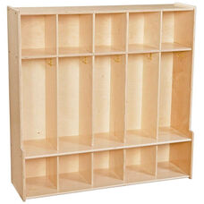 Contender 5 Section Seat Locker with Cubby Storage - Unassembled - 46.75''W x 14''D x 46.75''H
