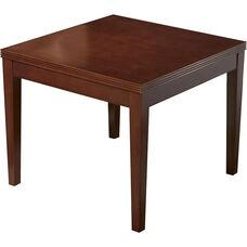 OSP Furniture Kenwood Hardwood Veneer End Table with Fluted Edge Top