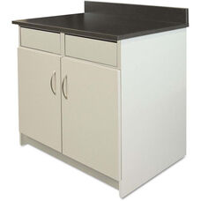 Alera Plus™ Hospitality Base Gray Laminate Cabinet with 2 Flipper Doors - 36