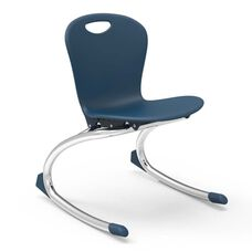ZUMA Series Rocker Chair with 13''H Seat and Chrome Frame - Navy - 15.75''W x 17.12''D x 21.37''H