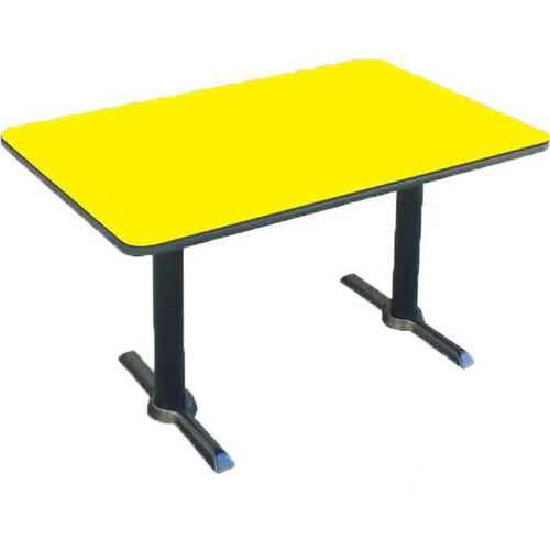 Our Laminate Top Rectangular Cafe Table with Cast Iron T-Base - 30