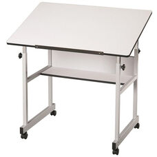 MiniMaster White Top Drawing Table - 36