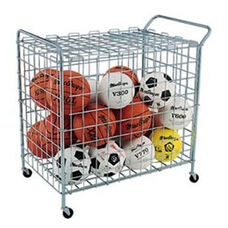 Deluxe Powder Coated Steel Wire Mesh Portable Ball Locker with Casters
