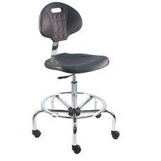 Deluxe Cleanroom Polyurethane Laboratory Chair - Chrome Base