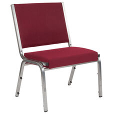 HERCULES Series 1500 lb. Rated Burgundy Antimicrobial Fabric Bariatric Antimicrobial Medical Reception Chair