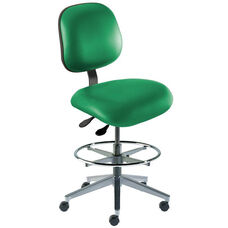 Quick Ship Elite Series Chair Ergonomic Seat and Wide Aluminum Base - High Seat Height