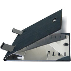 Aluminum Portable Netbook Stand with Neoprene Sleeve - Aluminum