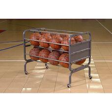 16 Ball Mobile Metal Frame Lockable Basketball Cart