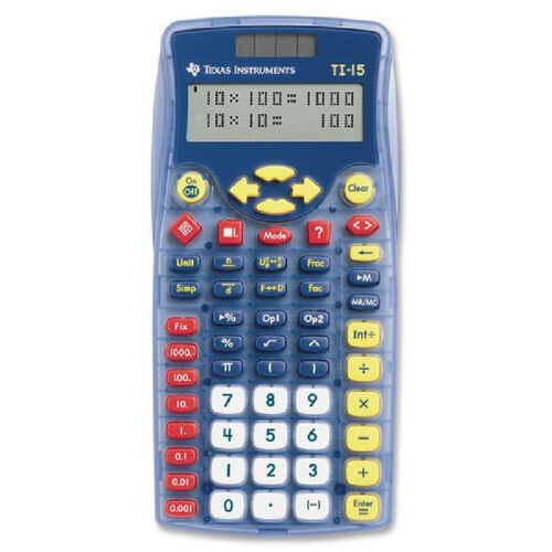 Our Texas Instruments Ti-15 Explorer Elementary Calculator is on sale now.