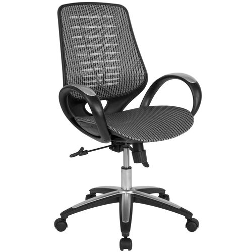 Our Newton Mid-Back Ergonomic Office Chair with Contemporary Mesh Design in Gray is on sale now.