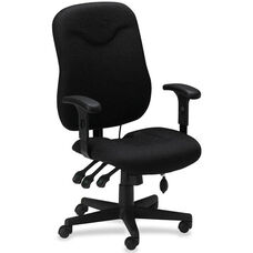 Mayline Group Comfort Posture Adjustable Executive Chair with Adjustable Arms - Black Fabric
