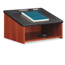 Safco® Tabletop Lectern - 24w x 20d x 13-3/4h - Cherry/Black