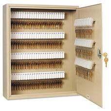 SteelMaster® Uni-Tag Key Cabinet - 160-Key - Steel - Sand - 16 1/2 x 4 7/8 x 20 1/8