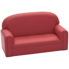 Just Like Home Enviro-Child Toddler Size Sofa - Deep Red - 34